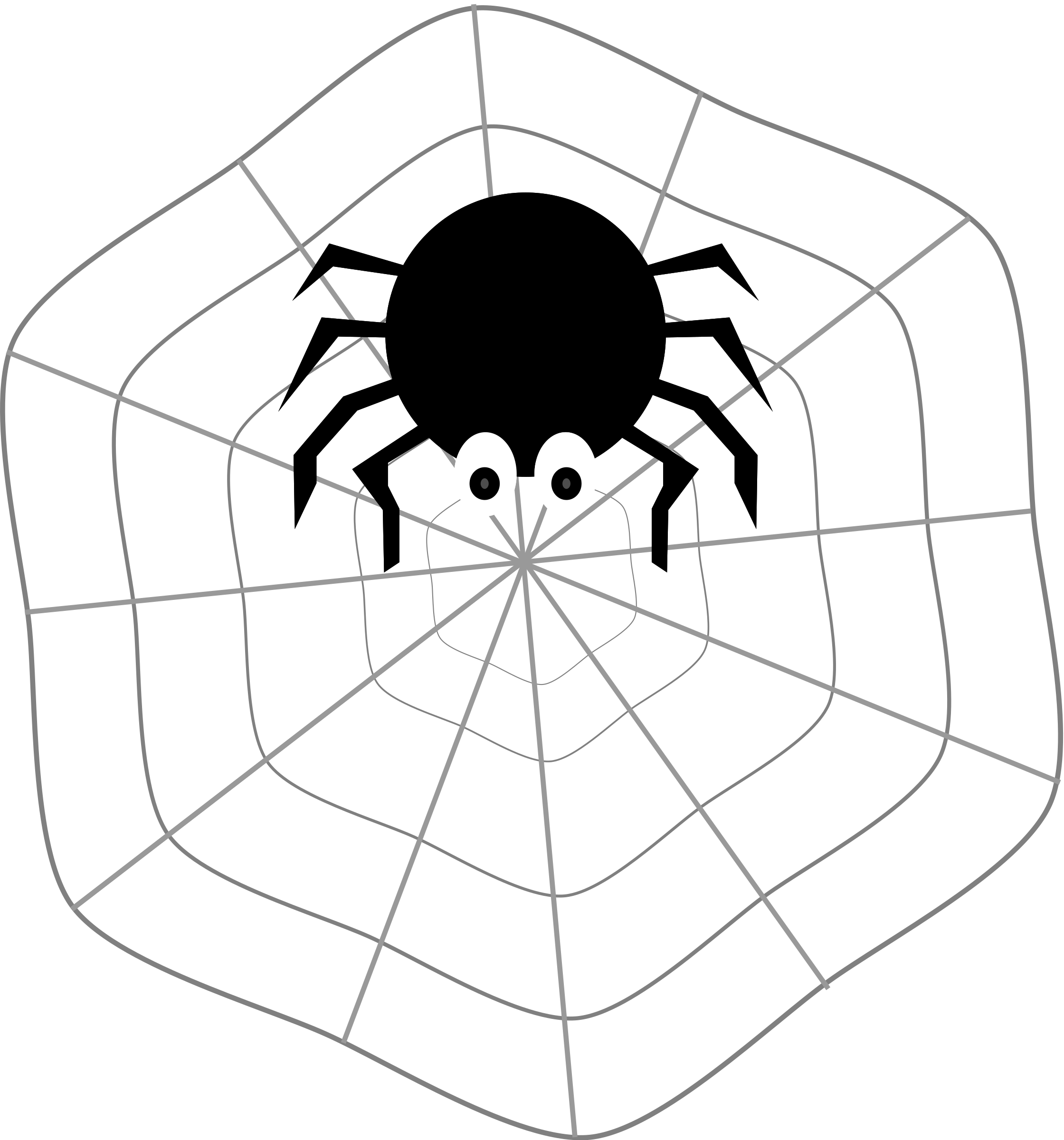 2240x2400 Spider web border clipart free images 7