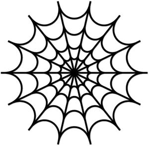 300x293 Spiderweb Stencil