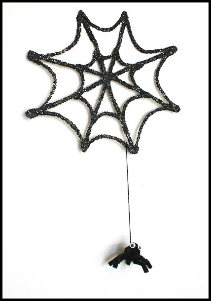 428x610 Halloween Crafts For Kids Glitter Spider Web And Spider
