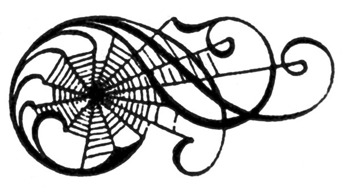 1140x638 Spider web border clipart free images 13