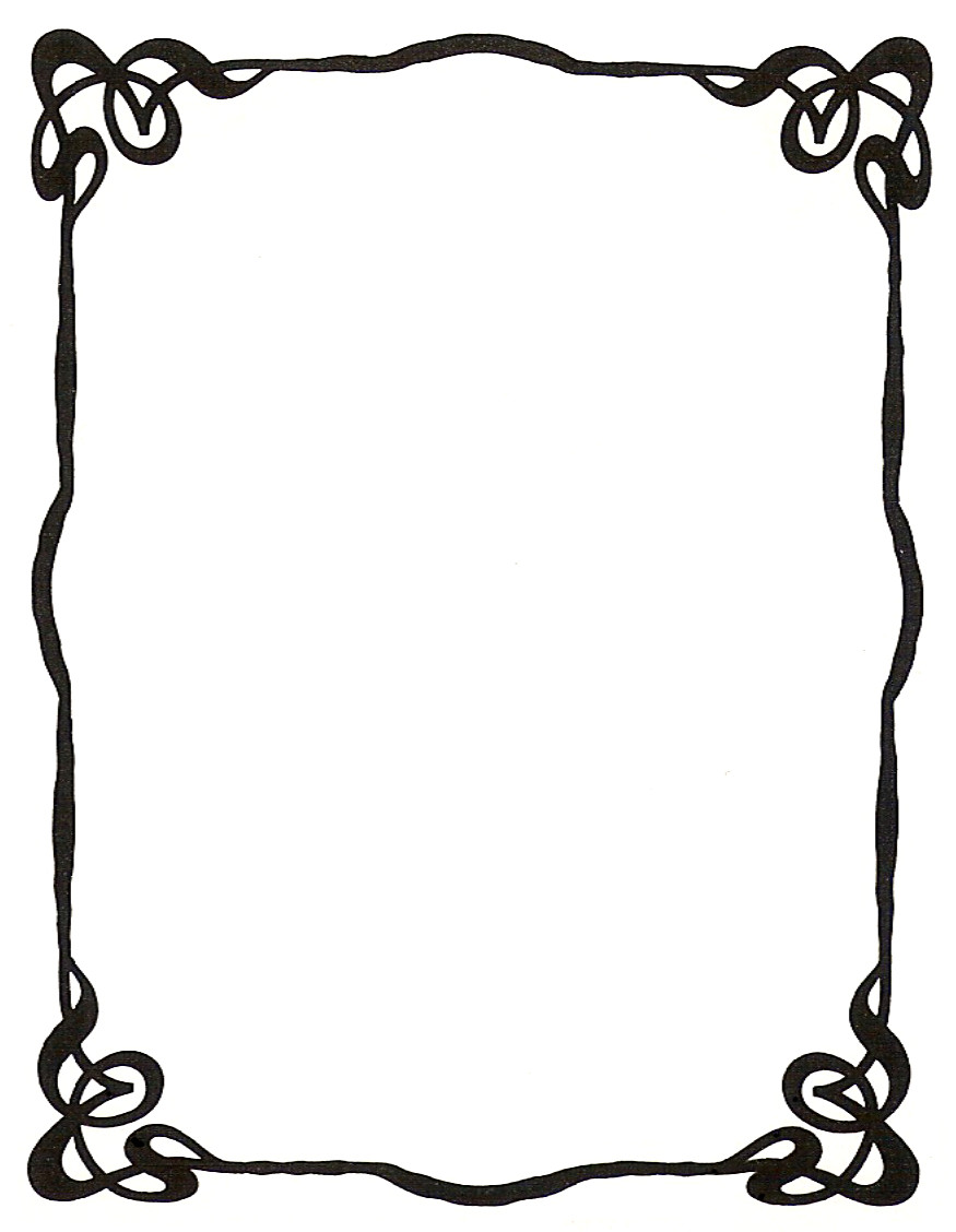 875x1128 Spider web border clipart free images 5