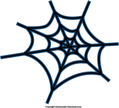 485x437 Colorful clipart spider web