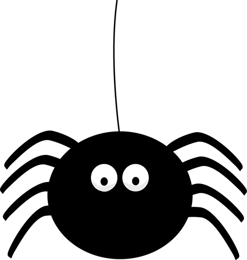 500x527 Halloween Spider Web Clipart
