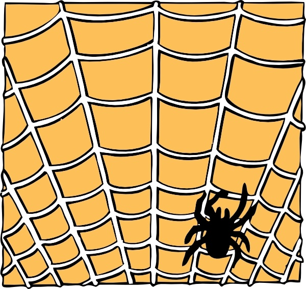 600x565 Spider On A Spider Web Clip Art Free Vector In Open Office Drawing