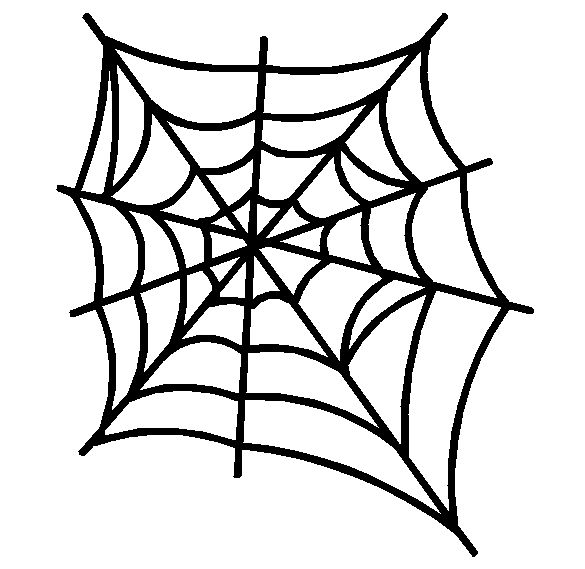 585x569 Spider a purple spider web clip art