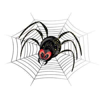 400x400 Spider Web Clip Art Cute Spider On Web Free Clipart Images