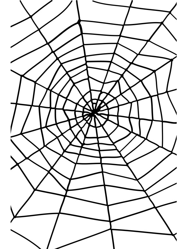 600x800 Cartoon Spider Web Clipart