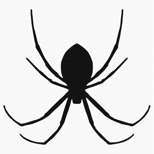 500x500 Spider Black And White Black And White Spider Web Clip Art Image