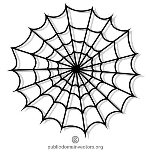 500x500 Symmetrical Spider Web Vector Clip Art Public Domain Vectors