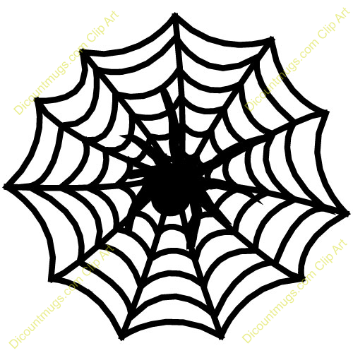 500x500 Web Clipart Spider Web