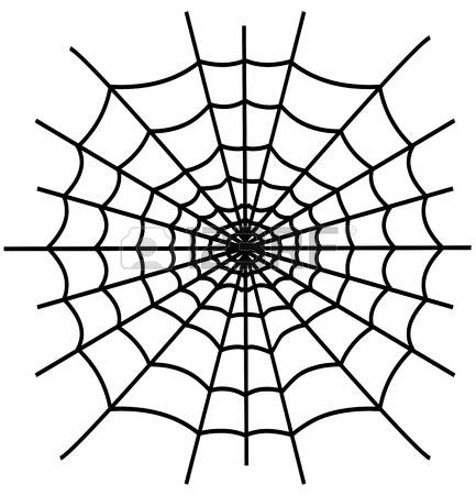433x450 Drawn Spider Web Black And White