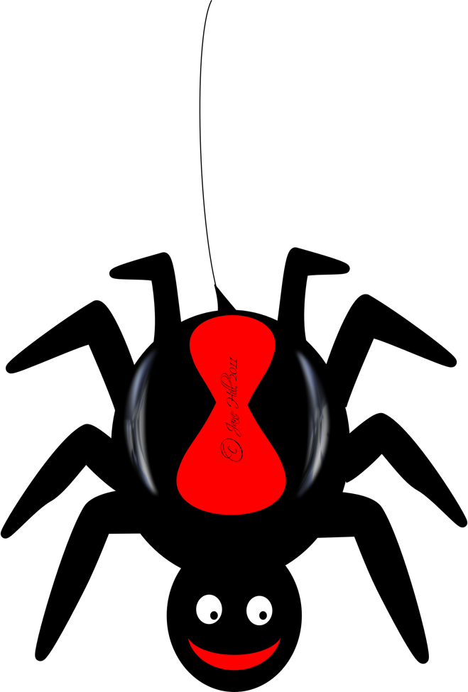 659x975 Cute Spider Clipart