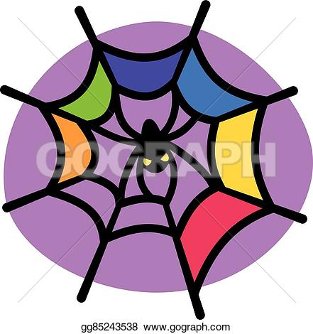 441x470 Spider Web Clipart Colorful