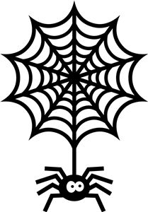209x300 Spider Web Clipart Silhouette