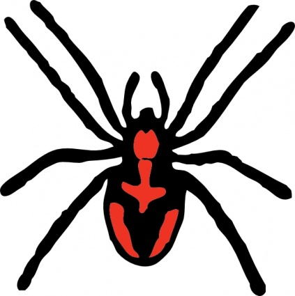 423x425 Spider Clipart Graphic
