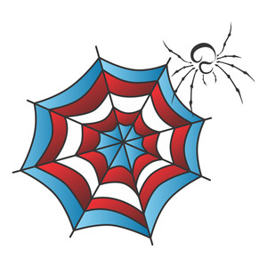 300x300 Vector Spiderweb Royalty Free Stock Image