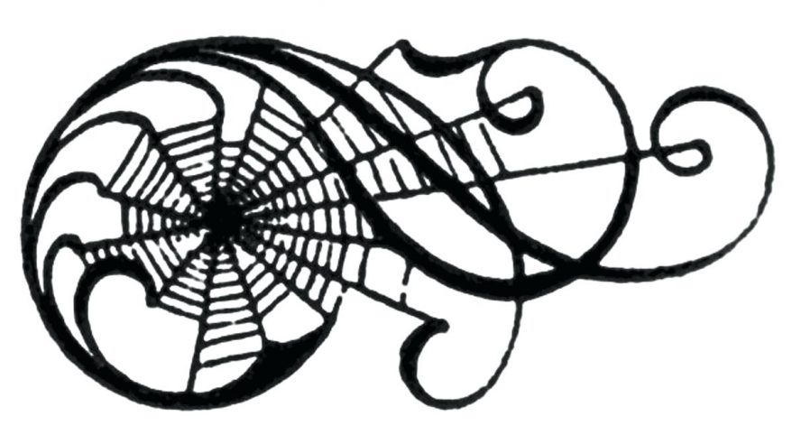 878x492 Vintage Clip Art Awesome Spiderweb Scrolls 22 Cool Spider Web