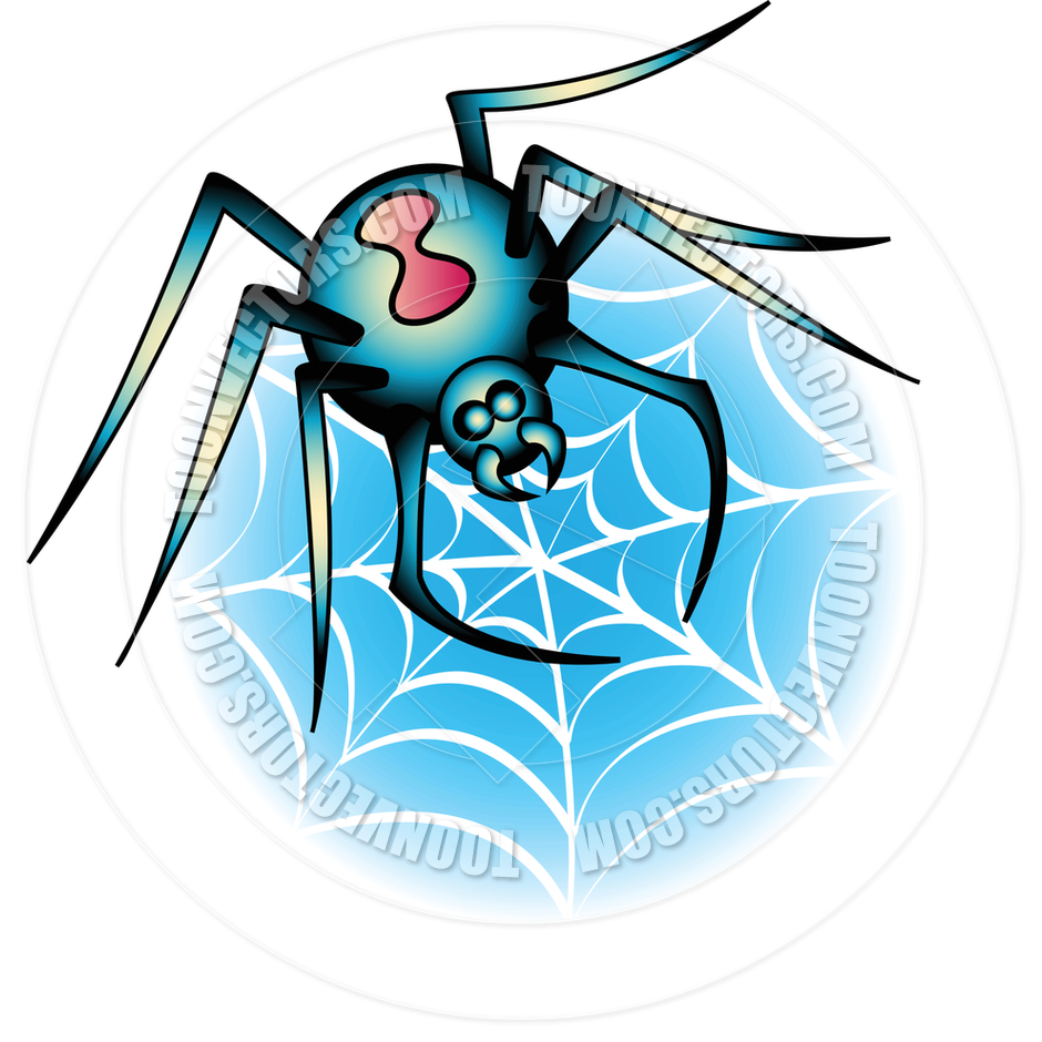940x940 Cartoon Tattoo Spider Web Design Vector Illustration By Clip Art