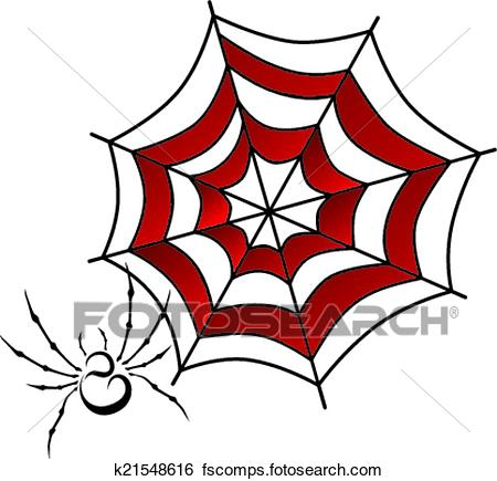 450x435 Clip Art Of Spider Web Art K21548616
