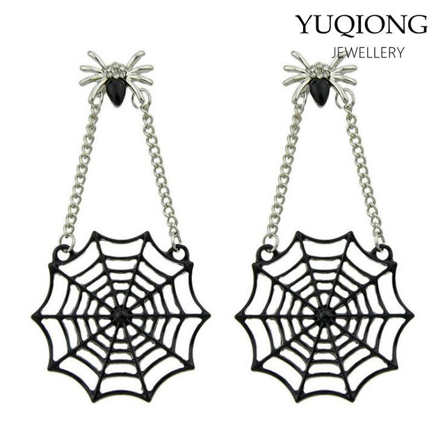 640x640 Buy Punk Gothic 3d Spider Stud Earrings Black