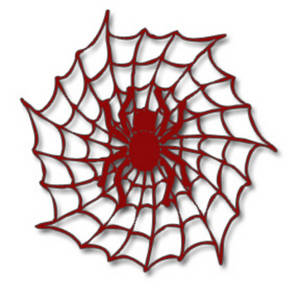 300x300 Halloween Clipart Picture Of A Red Spider In A Web