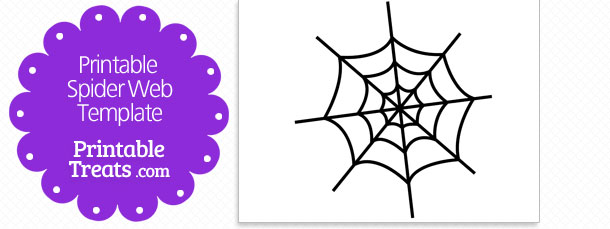 610x229 Printable Spider Web Template Printable