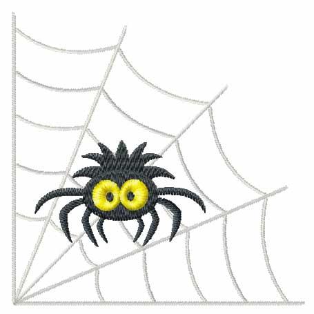 455x455 Spider Web Corner Clipart