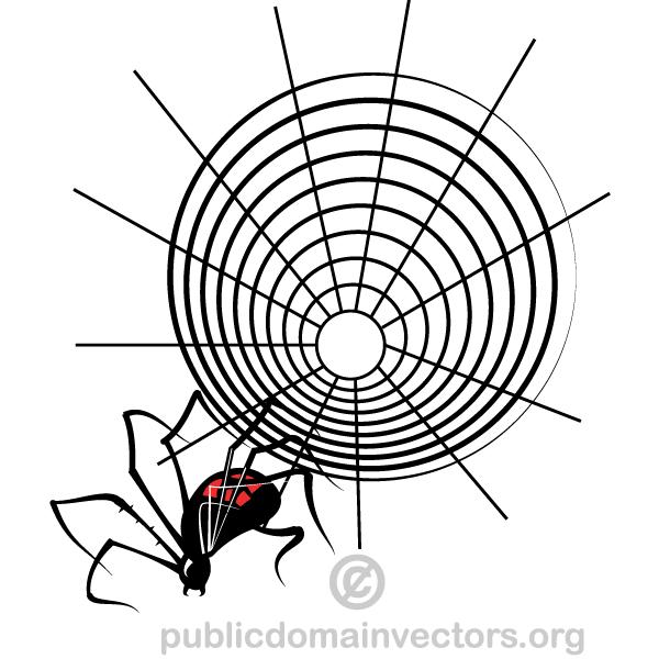 600x600 Spider Web Vector 123freevectors