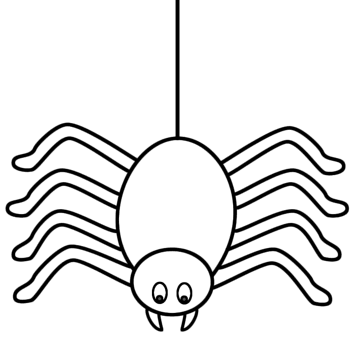 730x687 Spider Outline Clip Art