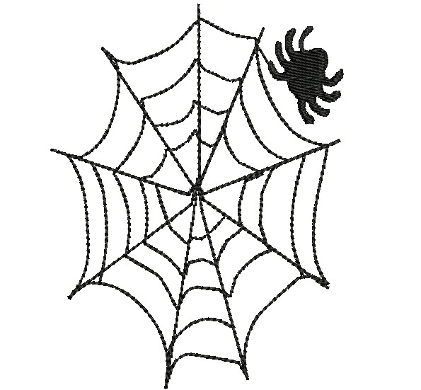 595x551 Spider Web Embroidery Designs
