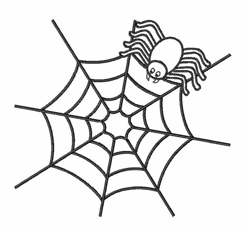 500x463 Spider Web Outline Embroidery Design Annthegran