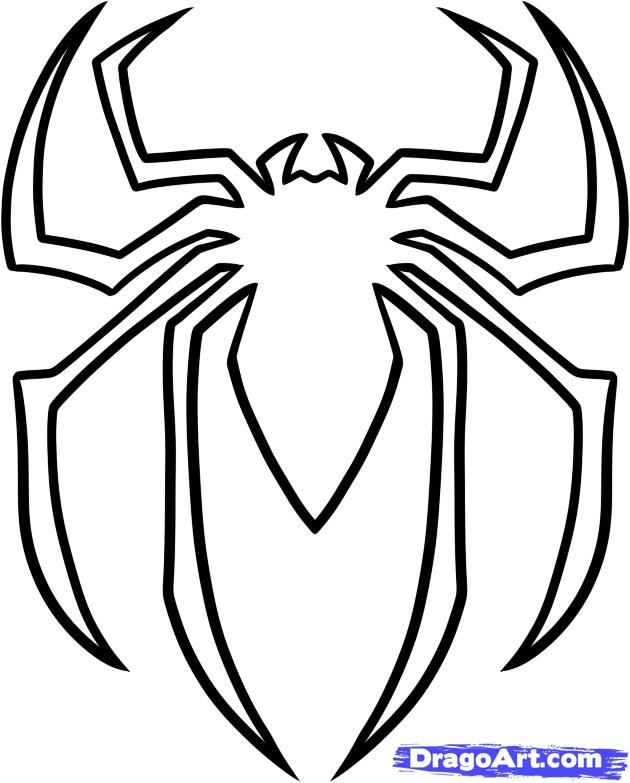 630x783 Spider Man Outline Clipart