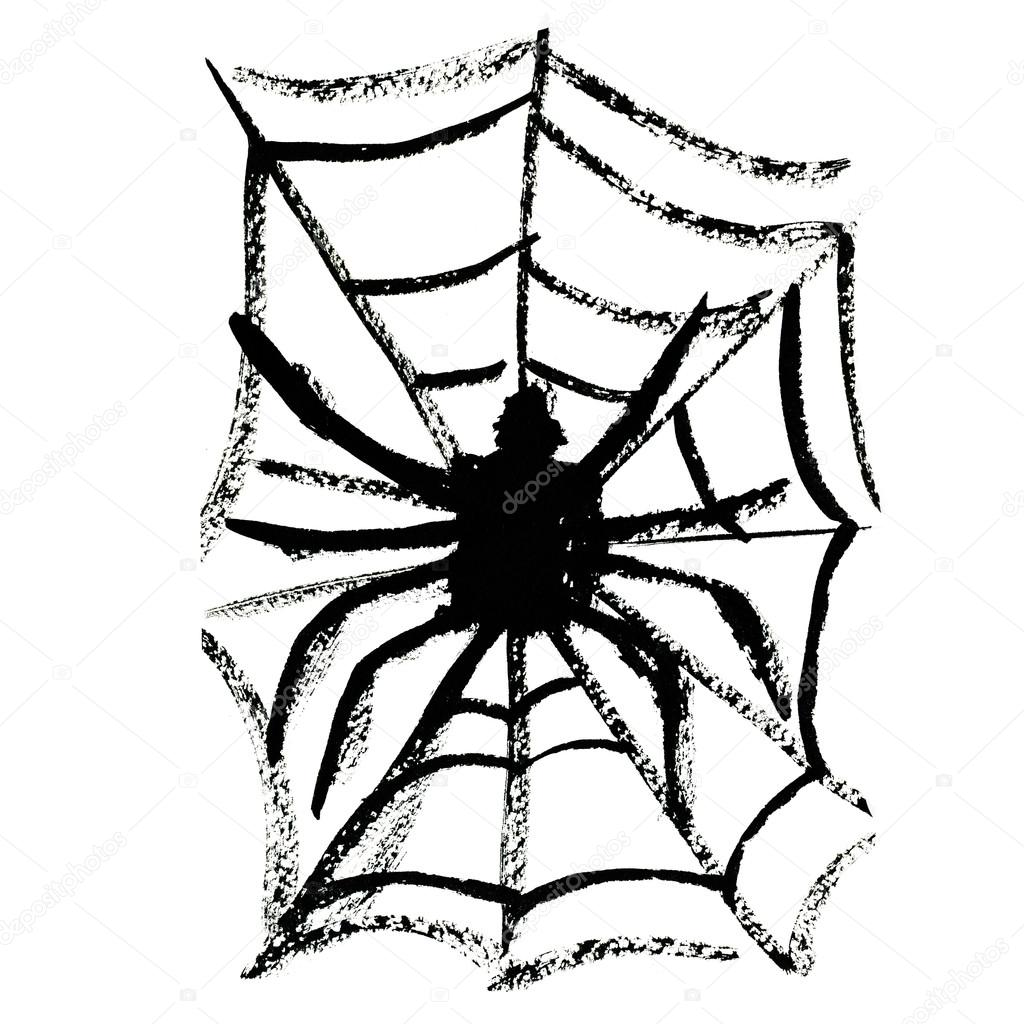 1024x1024 Spider On Cobweb Stock Photo