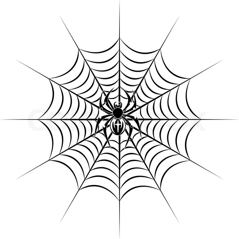800x800 Spider On Web In Tribal Style For Tattoo Vector Illustration
