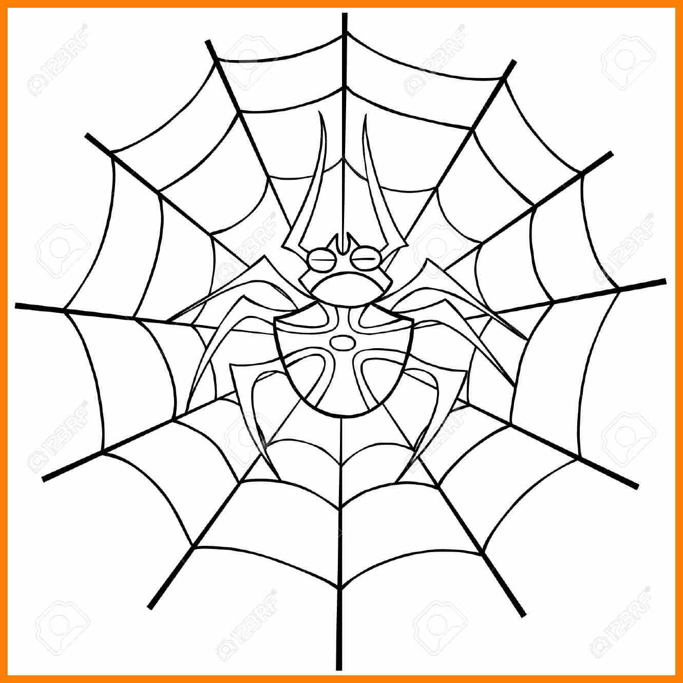 1330x1330 Spider Web Outline Awards Templates