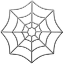 256x256 Spider Web Emoji U 1f578