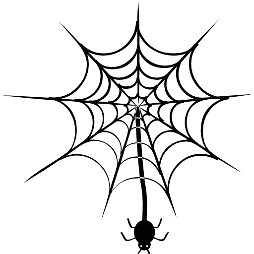512x512 Spider Hanging Of Web