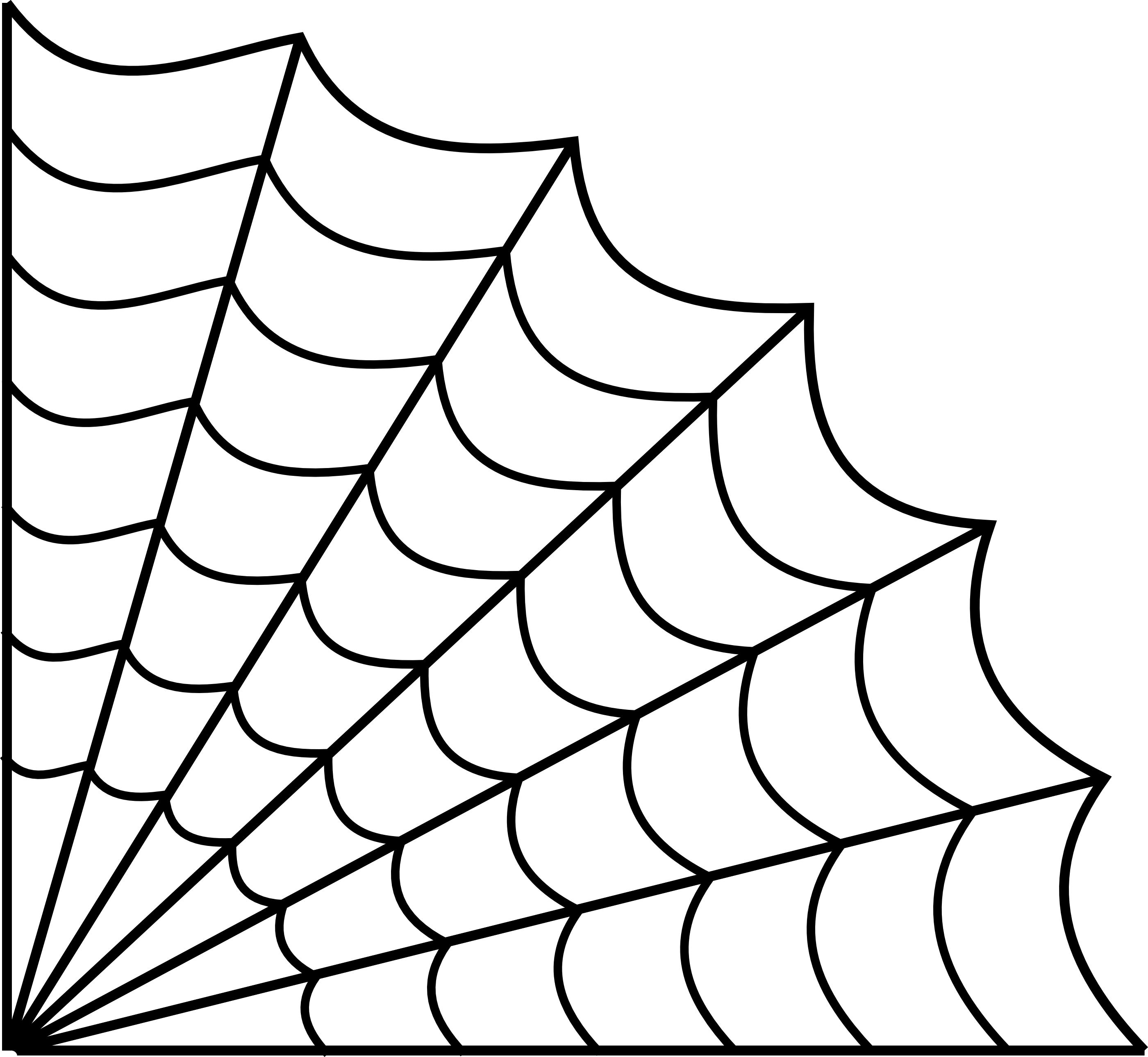 2801x2579 Drawn Spider Web Line Drawing