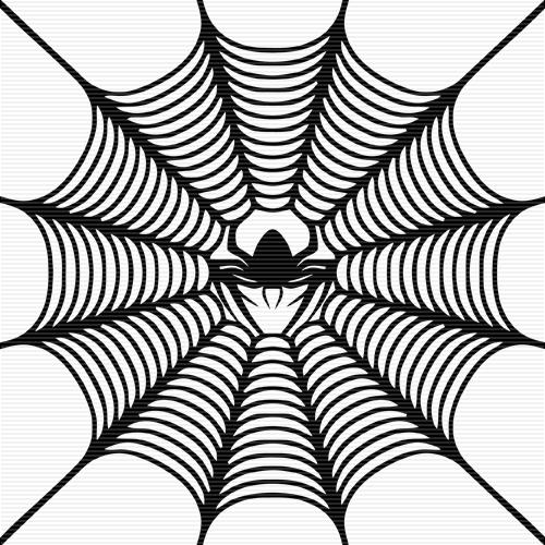 500x500 Spider Web Clipart Black