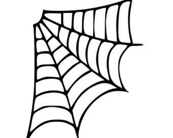 340x270 Spider Web Clipart Thick