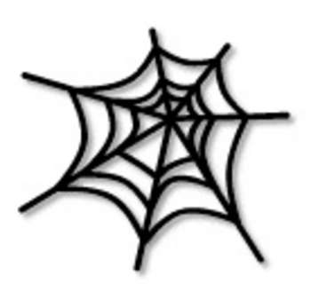 350x320 Creepy Clipart Spider Web