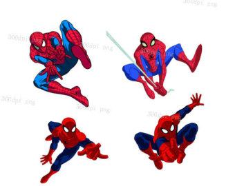 340x270 Spiderman Clip Art Etsy