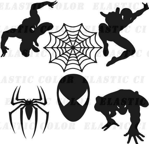 570x550 Spiderman Svg Clipart Silhouette Spider Man Vector Files