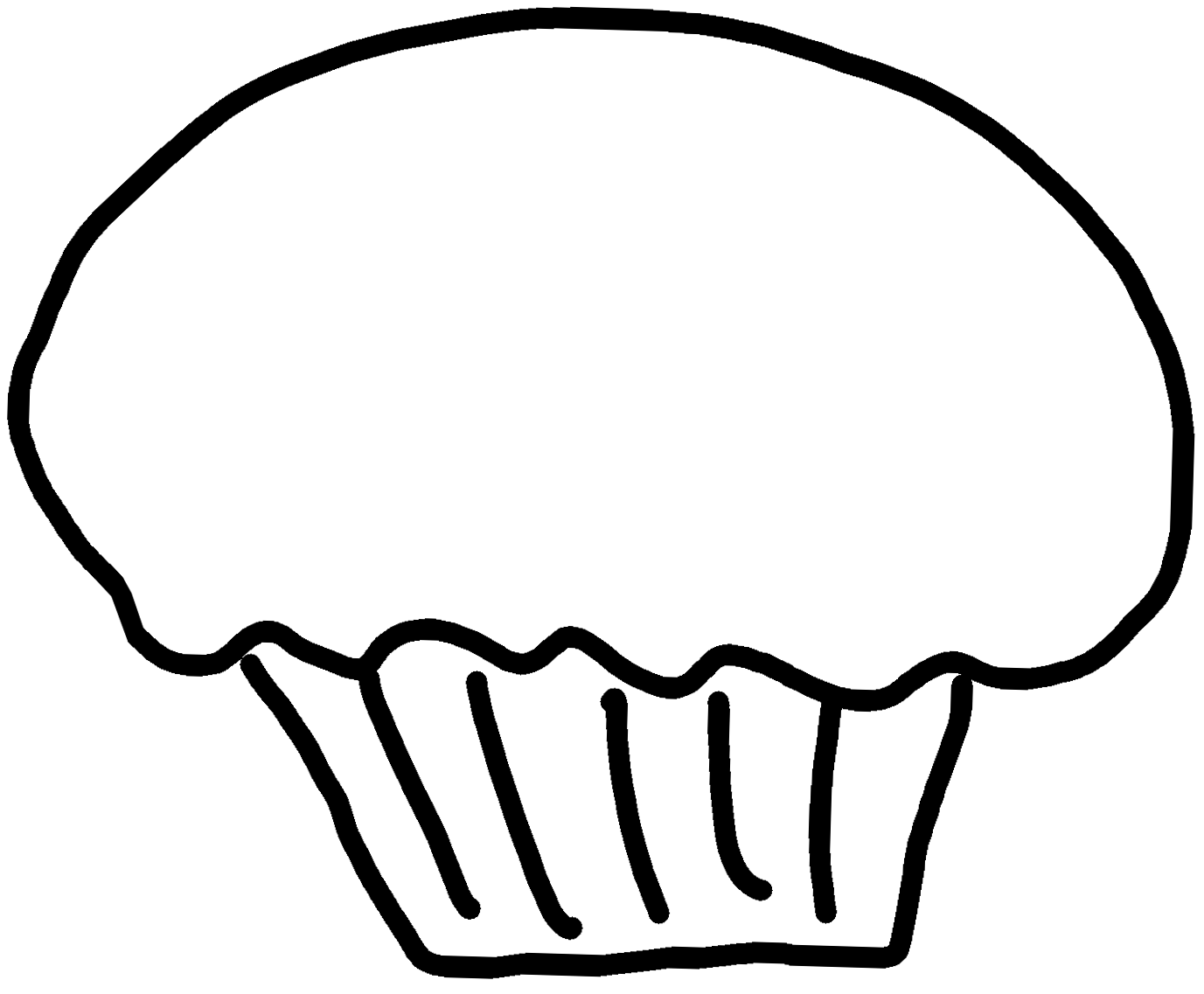 1377x1137 Black Amp White Cupcake Clipart Clipart Panda