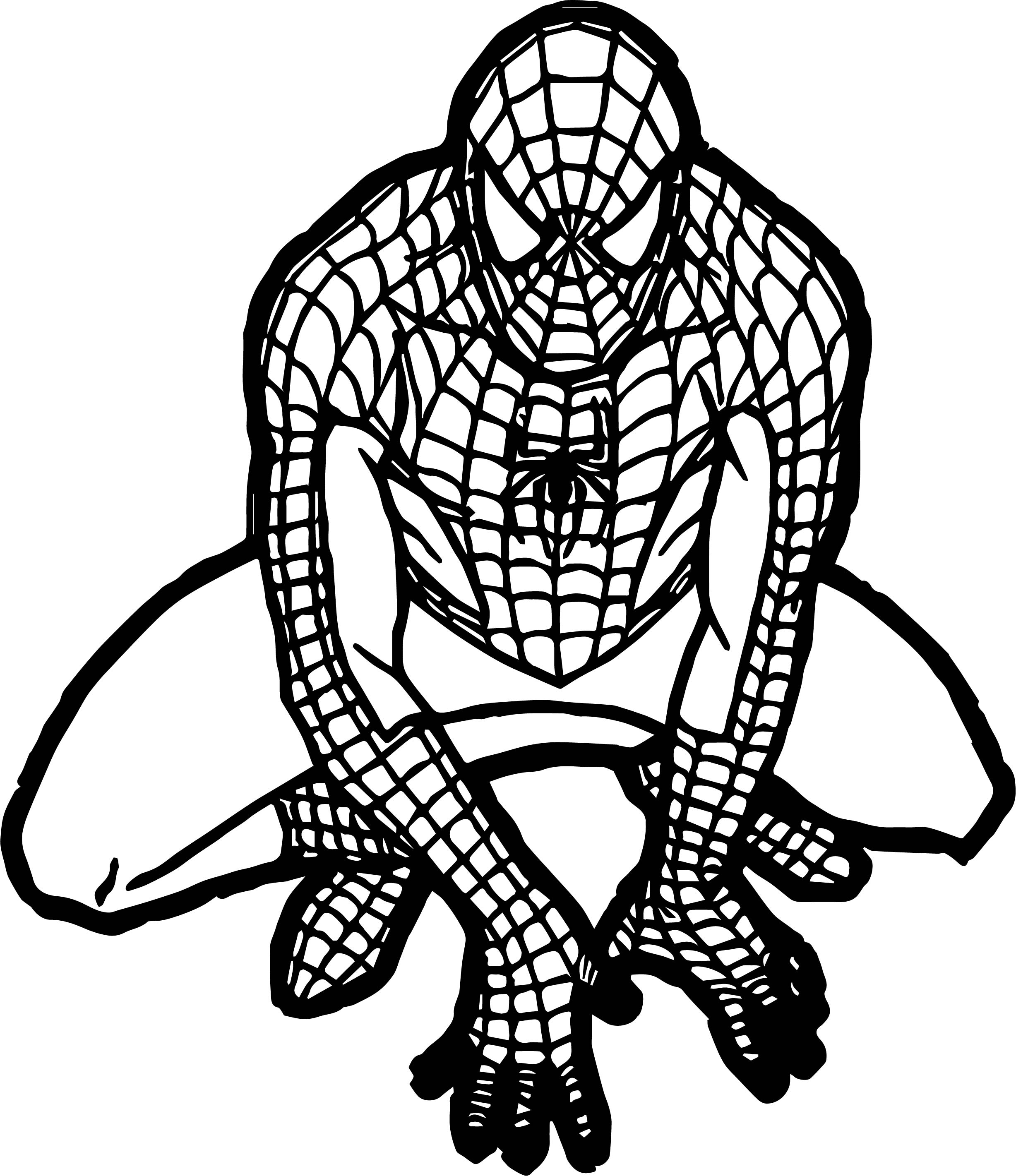 2455x2842 Baby Spiderman Free Spider Man Coloring Page Wecoloringpage