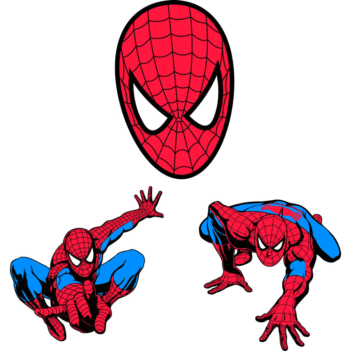 1200x1200 Printable Spiderman Clipart Collection