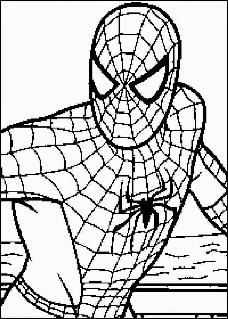 750x1050 Excellent Ideas Printable Spiderman Coloring Pages Free Spider Man