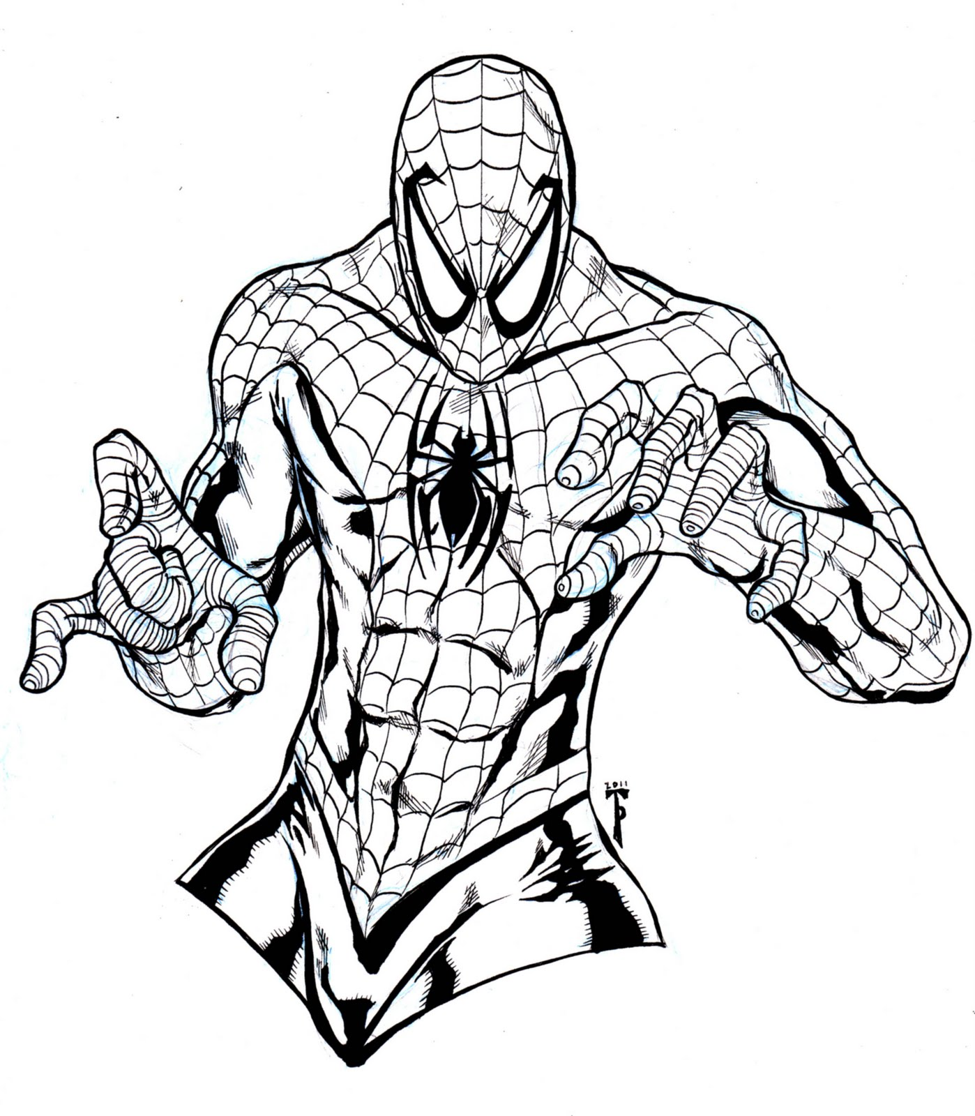 1398x1600 Free Printable Spiderman Coloring Pages For KidsFree