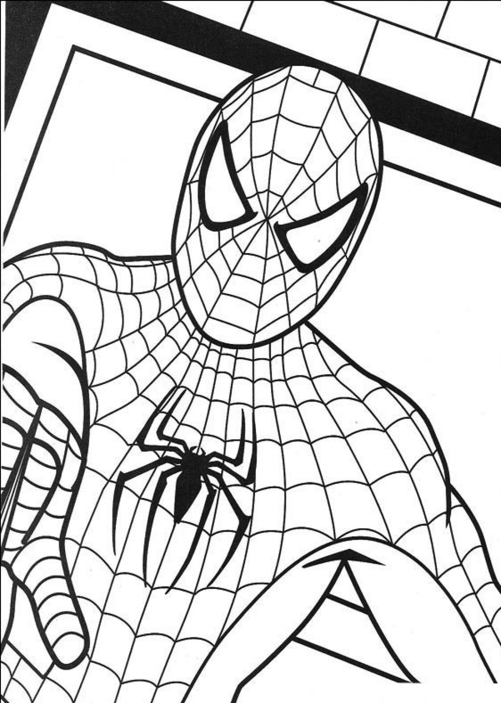 1024x1437 Fresh Spider Man Color Page 23 For Coloring Print With Spider Man