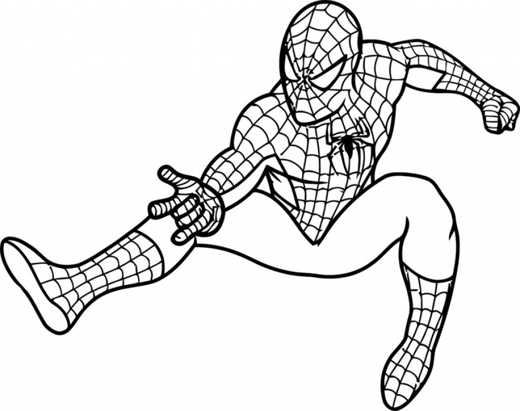 1024x810 Printable Coloring Sheets Of A Spiderman Cartoon For Kids For May